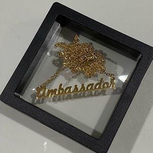 Ambassador Logo Gold Plated Chain Necklace